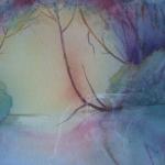 Passage of Light, Watercolor, 16 x 18 1/2