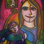 Rose et sa poupée