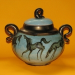 Lidded vessel with horse decoration - 2012